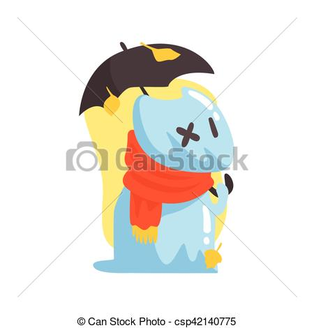 Vectors Illustration of Blue Jelly Zombie Dog Monster Holding.