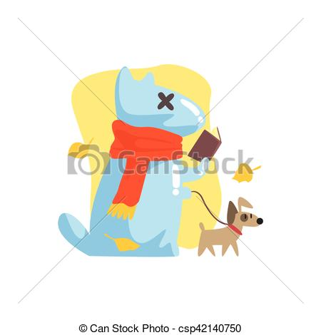 Clipart Vector of Blue Jelly Zombie Dog Monster Walking A Small.