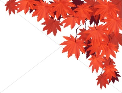 Red Leaves Clipart.