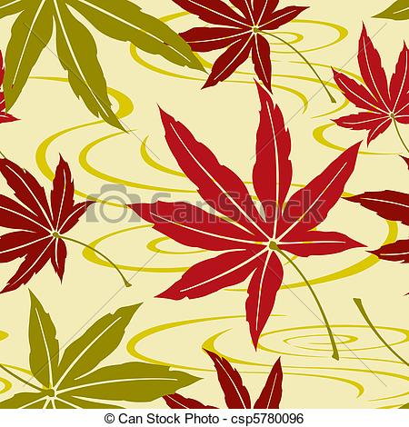 Clip Art Vector of Japanese maple..