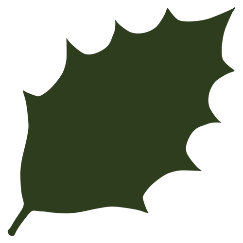 Leaf silhouette vector.