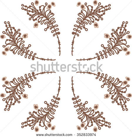 Branches Leaves Stamens Doodles Hole Spots Stock Vector 352832888.