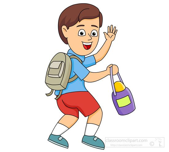 Hello! clipart leaving school #901.