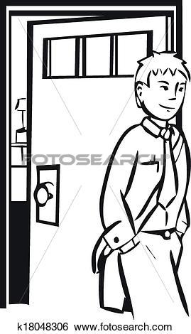 Clip Art of Leaving Home k18048306.