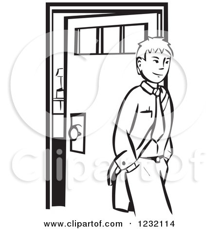 Leaving The House Clipart.