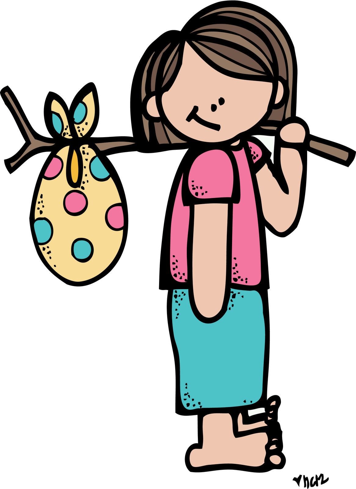 Girl leaving house clipart.