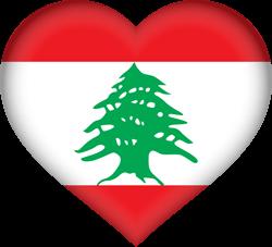 Lebanon flag clipart.
