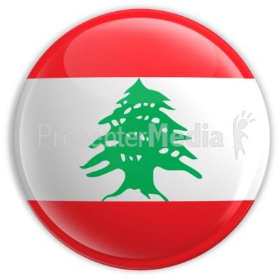 Badge of the Flag of Lebanon.