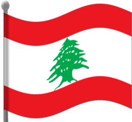 lebanon flag waving.