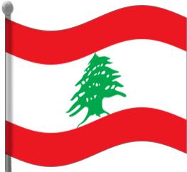 lebanon flag waving.