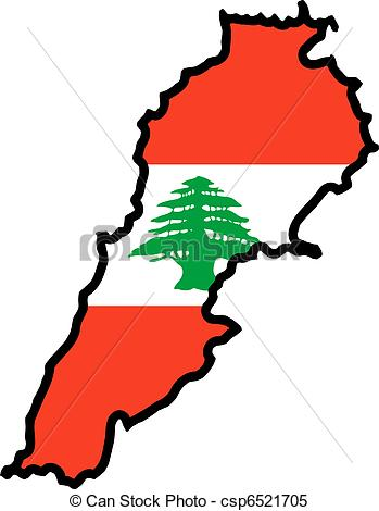 Clipart Vector of colors of Lebanon csp6521705.