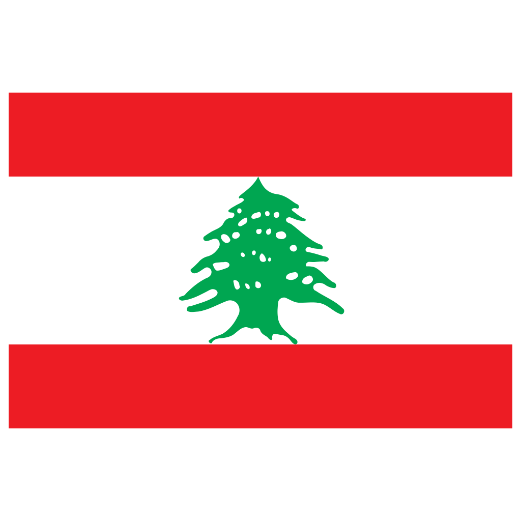 LB Lebanon Flag Icon.