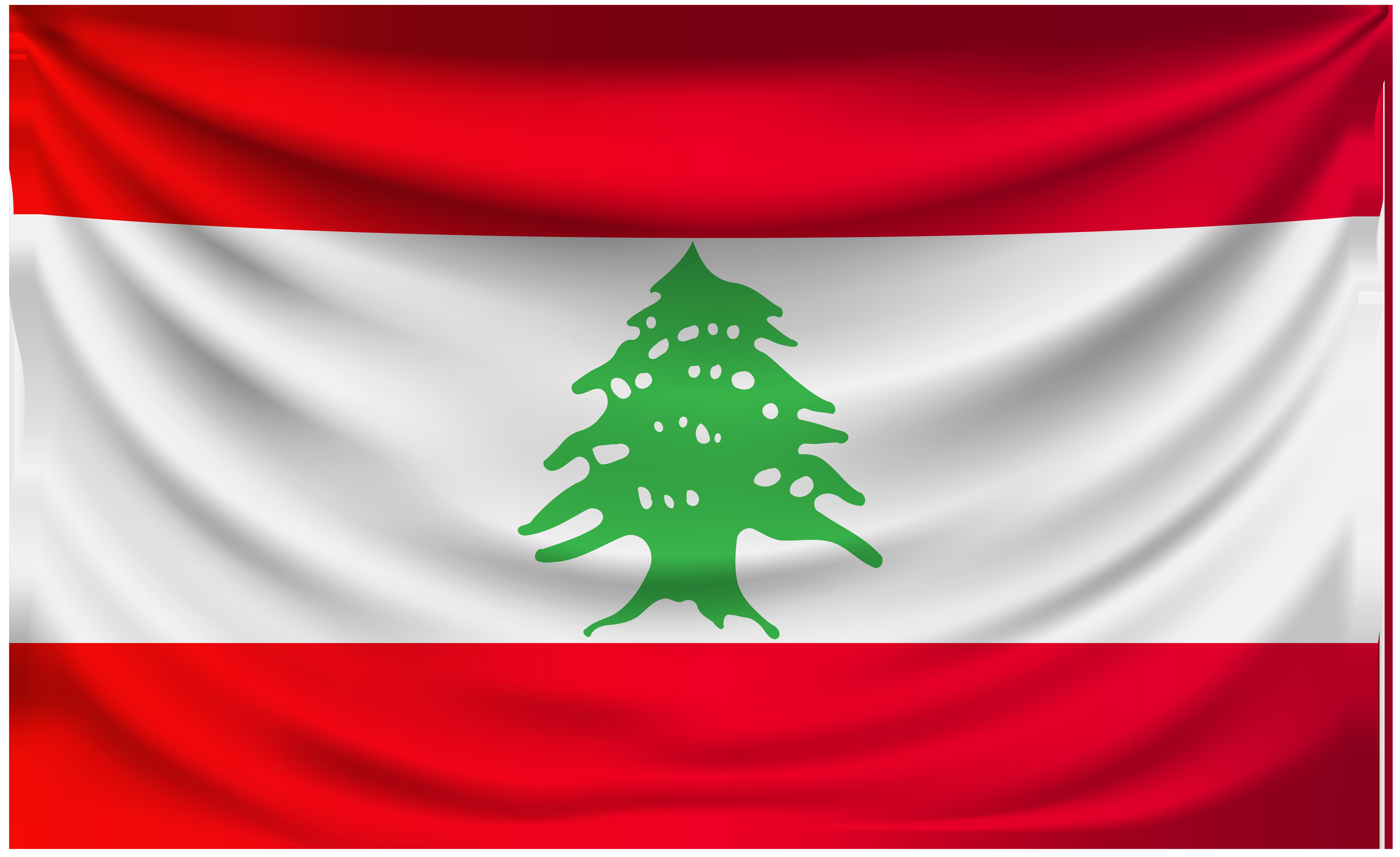 Lebanon Wrinkled Flag.