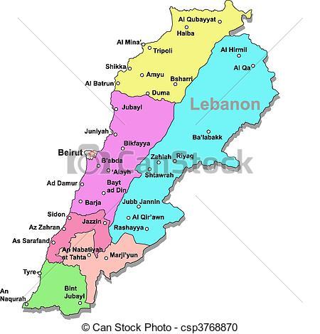 Lebanon map Clipart Vector and Illustration. 257 Lebanon map clip.