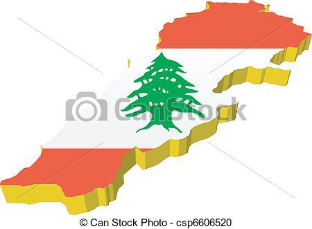 Lebanon map 3d Clipart Vector and Illustration. 23 Lebanon map 3d.
