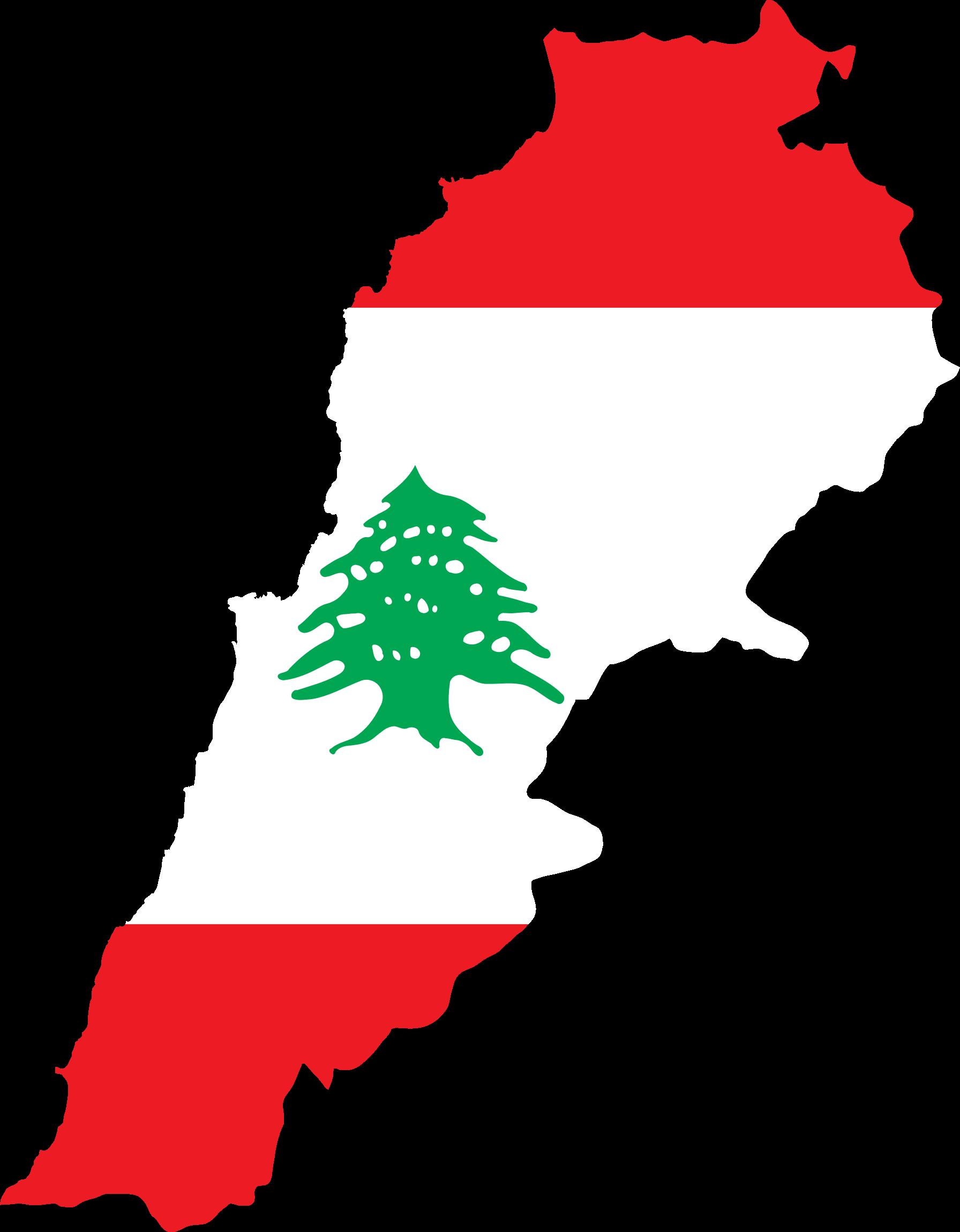 Lebanon Map Clipart.