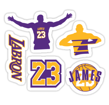 Lebron James 2018 Los Angeles Lakers Sticker Pack! (The.