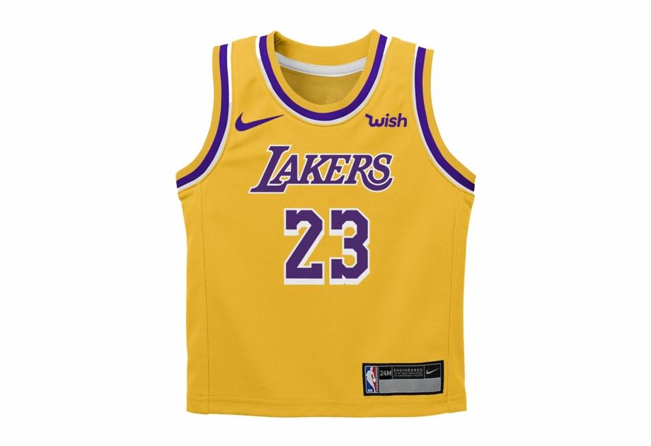 Los Angeles Lakers Infant Lebron James Icon Replica.