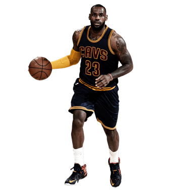 Lebron James Front transparent PNG.