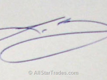 Lebron James IP autograph photo.