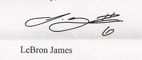 Lebron James Signature.