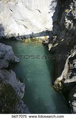 Stock Image of Lechfall and gorge in Fussen Bavaria Germany.