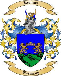 Lechner Family Crest from Germany by The Tree Maker.