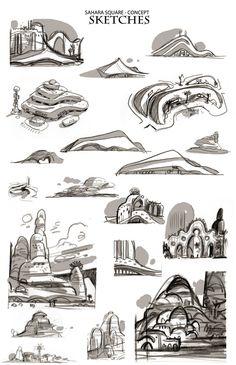 Zootopia Concept Art by Art Director Matthias Lechner.