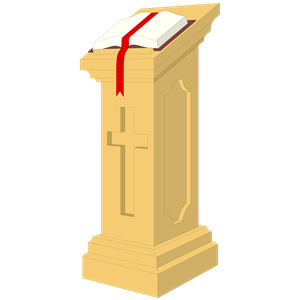 Lectern Clipart.