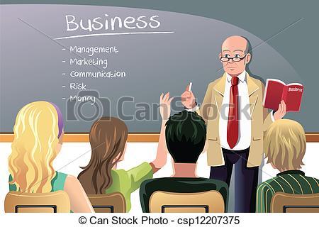 EPS Vector of University Professor Lecture Speech Teacher College.