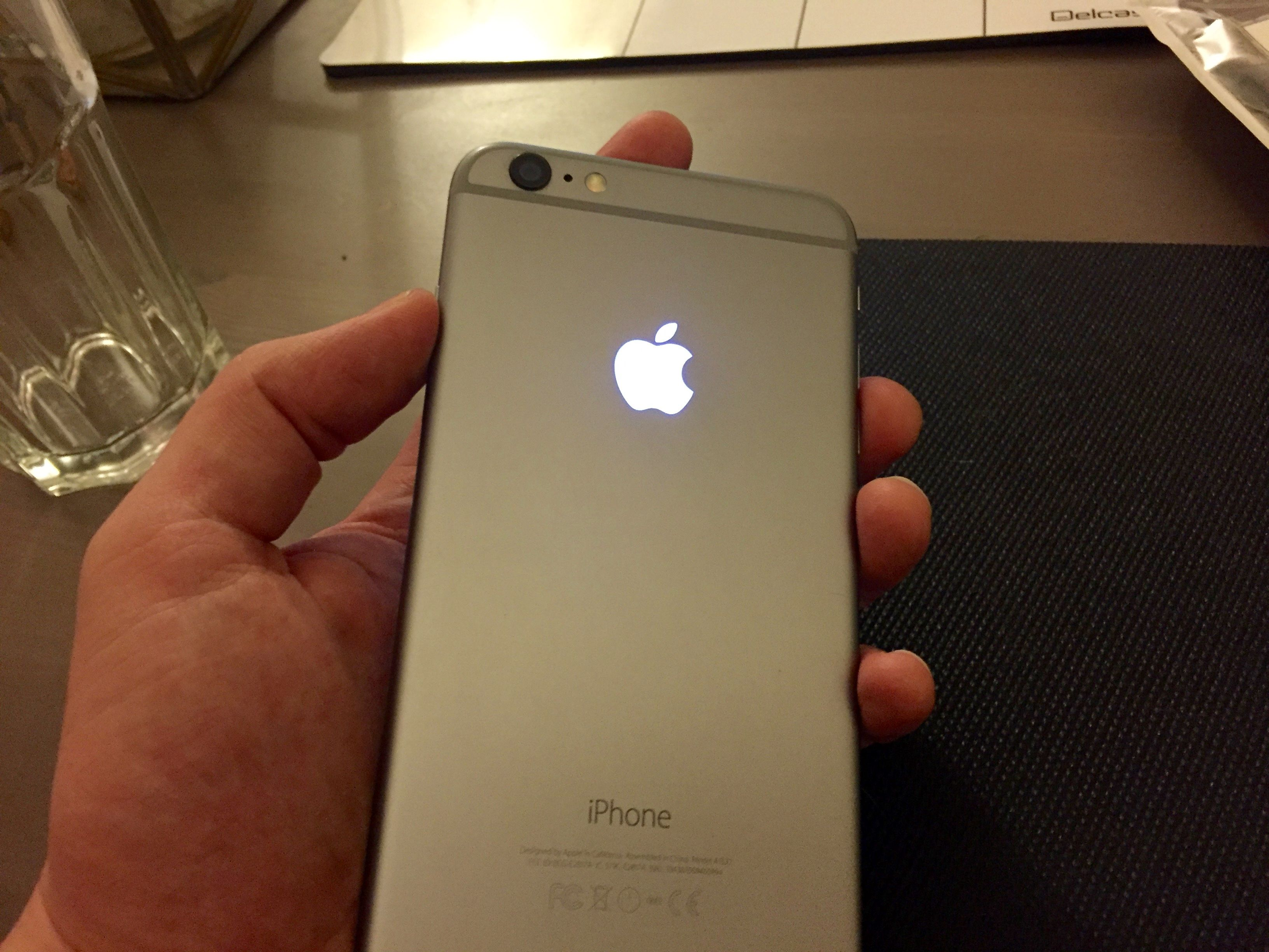 Replacing the Apple Logo on the back of my iPhone 6 Plus.