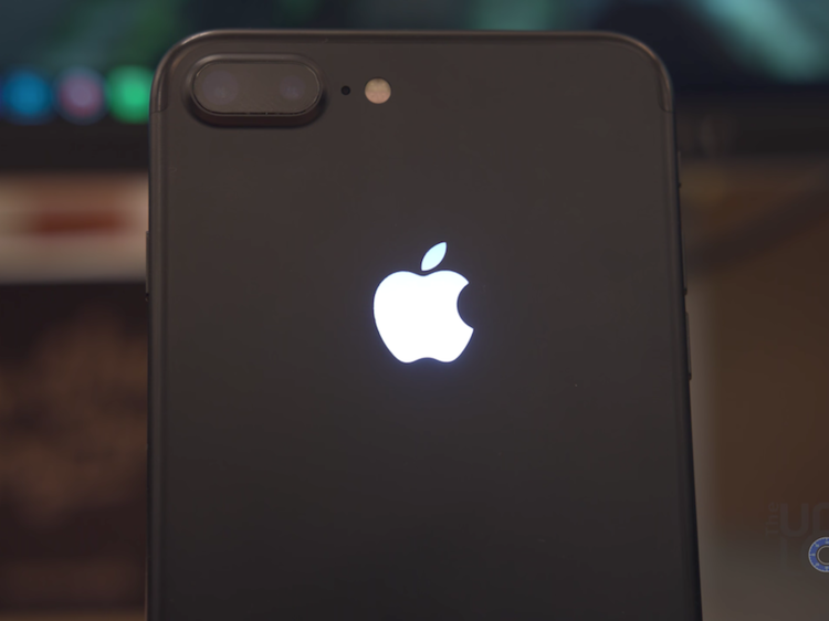 iPhone 7 glowing Apple logo DIY kit.