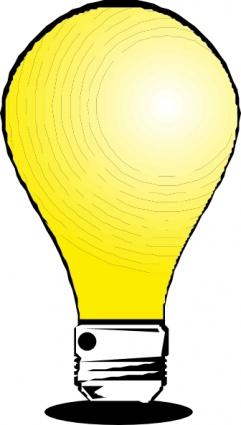 Led light bulb clip art free clipart images.