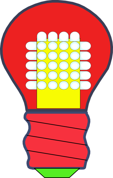 Led light bulb clipart.