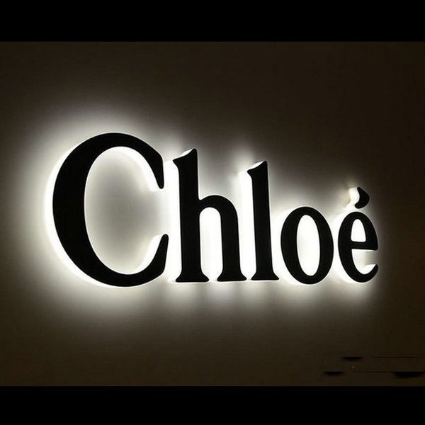 2019 Outdoor Custom Stainless Steel 3D Led Logo Halo Lit Shop Name Sign  Boards From Lilycao930, $800.81.