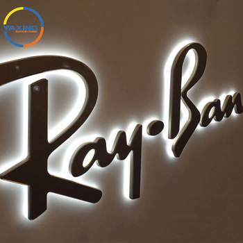 High Brightness Backlit Stainless Steel Led Logo Sign Light Up Letter  Acrylic Led Sign Led House Store Led Light Sign.