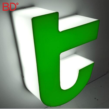 Outdoor Advertising Acrylic Signs Logo / Led Edge Lit Channel Letter Sign  Led Letter Board For Illuminated Diy Channel Letter.