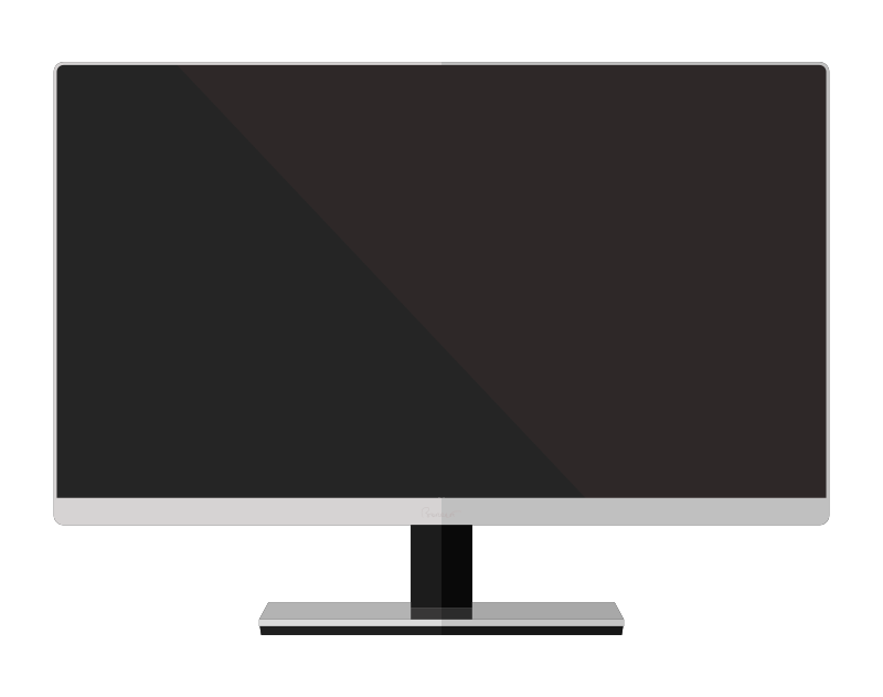 Free Clipart: Simple LED Monitor.
