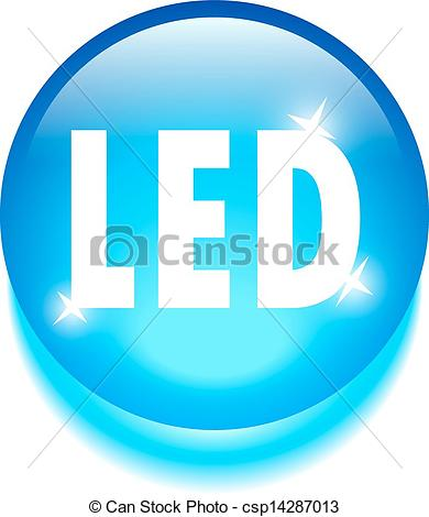 Vector Clip Art of Led technology icon isolated on white.