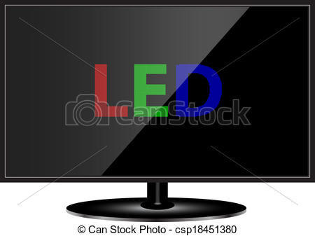 Vector of LED TV technology csp18451380.