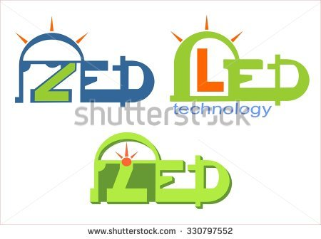 Led Technology Light Logo Stock Vector Illustration 330797552.