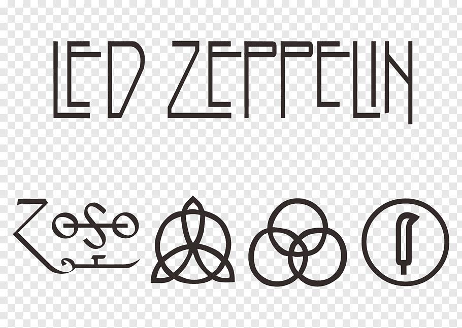 Led Zeppelin logo, Led Zeppelin IV Logo, rock band free png.