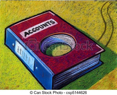 Accounting ledger clipart.