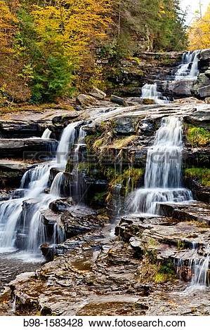 Pictures of Wallenpaupack Creek Waterfalls seen from room 202.