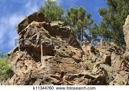Stock Photography of Mountain ledges k11344760.
