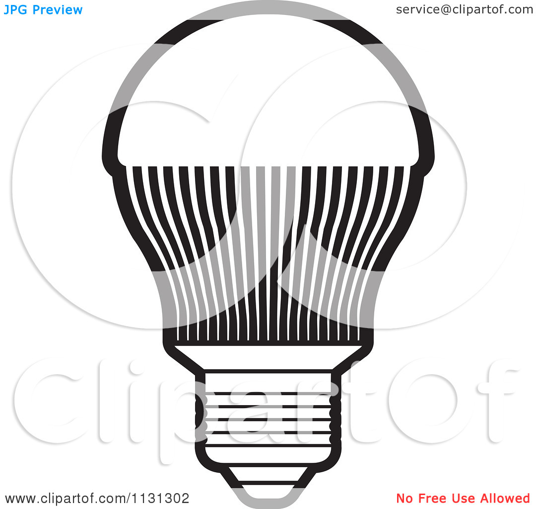 Led Clipart Black And White.