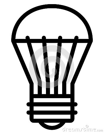 Lamp Evolution Icons Stock Photography.