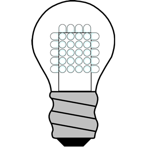 Light Bulb LED OFF clipart, cliparts of Light Bulb LED OFF free.