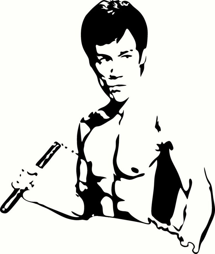 Bruce lee head clipart.