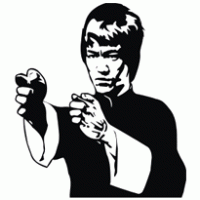 Clipart of bruce lee.